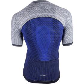 UYN Biking Alpha OW Blouse korte mouwen Heren, blauw/grijs